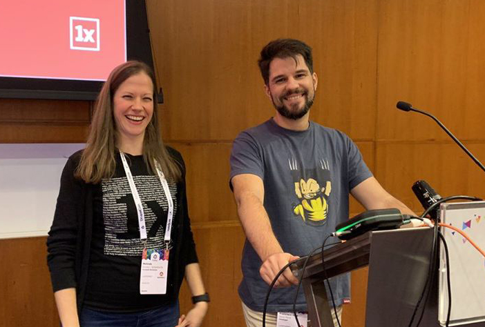 Melinda and Seva on DrupalCon Amsterdam 2019